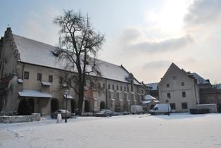 Klasztor franciszkanów - widok od Plant